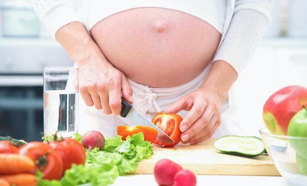 Диета беременной до родов