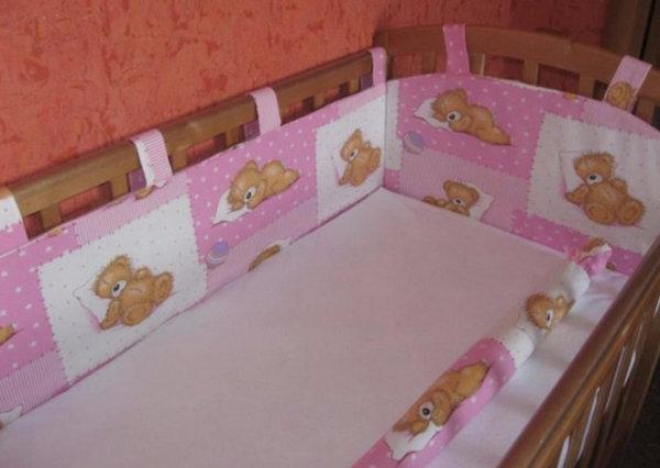 Бортики в виде подушек в кроватку для новорожденных своими руками выкройки